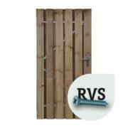 Boers Poort met frame RVS